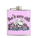 Bridezilla Skull Hip Flask