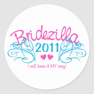 Bridezilla stickers