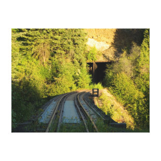 Bridge 23 2 and Tunnel 5 Railroad Canvas Small Stretched Canvas Print