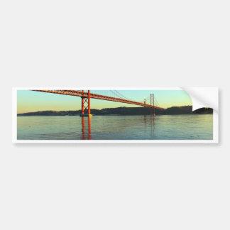 Bridge 25 of April, Lisbon, Portugal Bumper Sticker