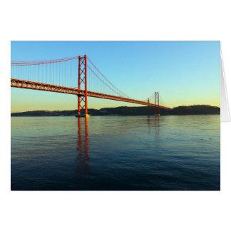 Bridge 25 of April, Lisbon, Portugal Card