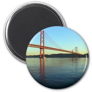 Bridge 25 of April, Lisbon, Portugal Magnet