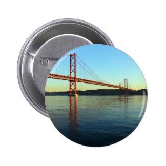 Bridge 25 of April, Lisbon, Portugal Pinback Button