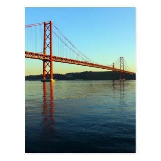 Bridge 25 of April, Lisbon, Portugal Postcard