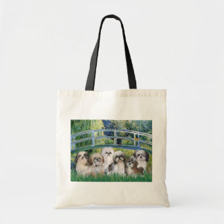 Bridge - 6 Shih tzus Tote Bag