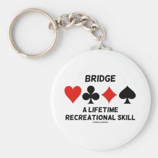 Bridge A Lifetime Recreational Skill (Card Suits) Basic Round Button Keychain