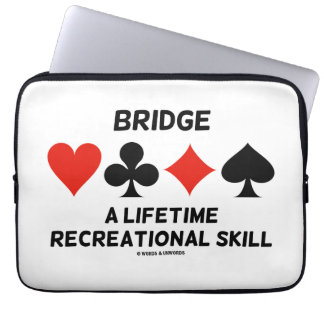 Bridge A Lifetime Recreational Skill (Card Suits) Laptop Sleeve