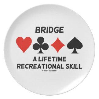 Bridge A Lifetime Recreational Skill Card Suits Dinner Plate