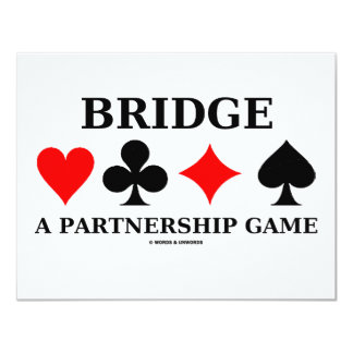 Bridge A Partnership Game Card