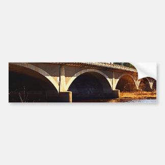 Bridge Across River Bumper Sticker