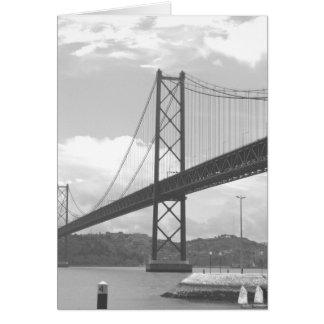 Bridge Across Tejo River Card