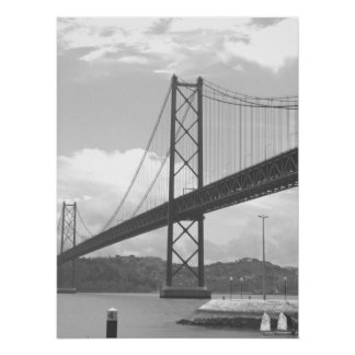 Bridge Across Tejo River Poster