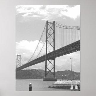 Bridge Across Tejo River Poster