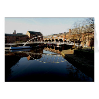 Bridge and canal greeting cards