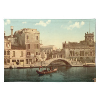 Bridge and Canal, Venice Cloth Placemat