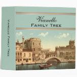 Bridge and Canal, Venice, Italy Family Tree Binders