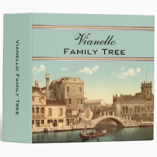 Bridge and Canal, Venice, Italy Family Tree Binder