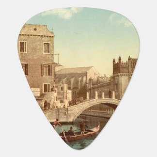 Bridge and Canal, Venice, Italy Guitar Pick
