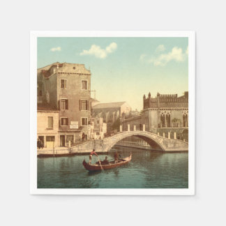 Bridge and Canal, Venice, Italy Paper Napkin