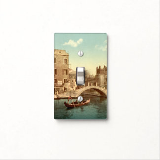 Bridge and Canal, Venice, Italy Switch Plate Cover