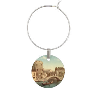 Bridge and Canal, Venice, Italy Wine Charm