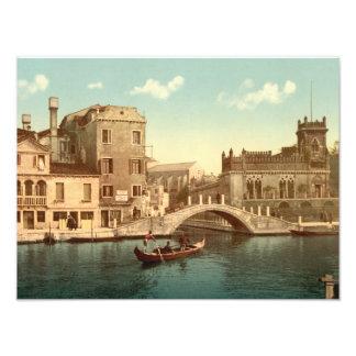 Bridge and Canal, Venice Photo Print