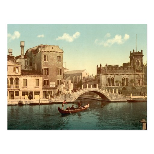 Bridge and Canal, Venice Post Card