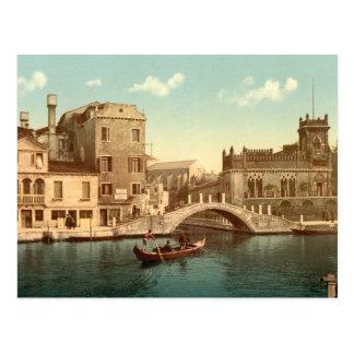 Bridge and Canal Venice Postcard
