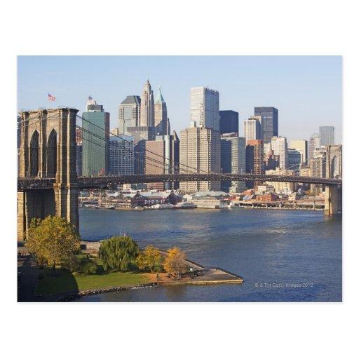 Bridge and Cityscape Postcard