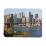 Bridge and Cityscape Rectangular Photo Magnet
