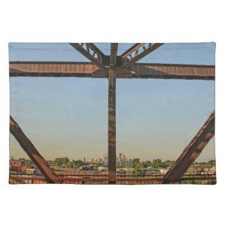Bridge and Minneapolis Skyline Cloth Placemat