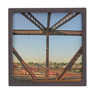 Bridge and Minneapolis Skyline Jewelry Box