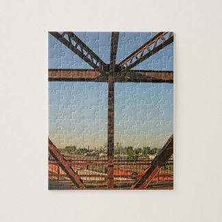 Bridge and Minneapolis Skyline Jigsaw Puzzle