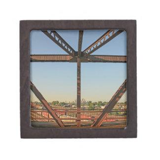Bridge and Minneapolis Skyline Keepsake Box