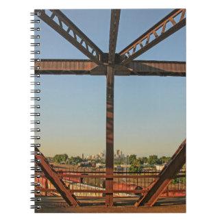 Bridge and Minneapolis Skyline Notebook