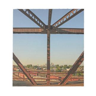 Bridge and Minneapolis Skyline Notepad