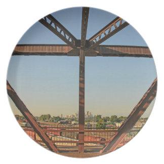 Bridge and Minneapolis Skyline Plate