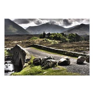 Bridge and Mountains HDR  -Scotland Photo Print