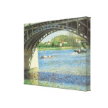 Bridge at Argenteuil and the Seine by Caillebotte Canvas Print