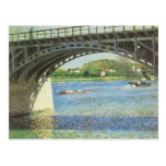 Bridge at Argenteuil and the Seine by Caillebotte Post Cards