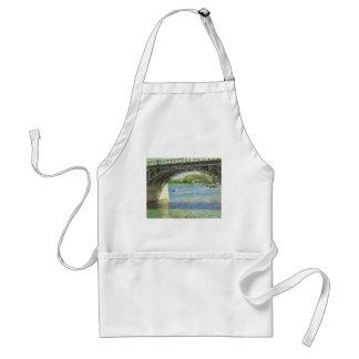 Bridge at Argenteuil by Caillebotte, Vintage Art Adult Apron