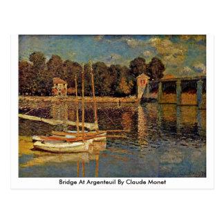 Bridge At Argenteuil By Claude Monet Postcard