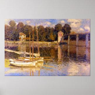 Bridge at Argenteuil by Claude Monet Poster