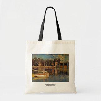 Bridge At Argenteuil By Claude Monet Tote Bag