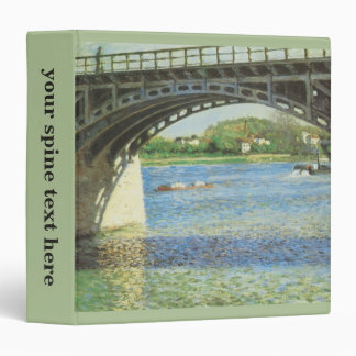 Bridge at Argenteuil by Gustave Caillebotte 3 Ring Binder