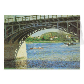 Bridge at Argenteuil by Gustave Caillebotte Card