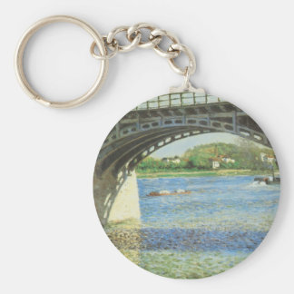 Bridge at Argenteuil by Gustave Caillebotte Keychain