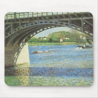 Bridge at Argenteuil by Gustave Caillebotte Mouse Pad