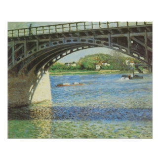 Bridge at Argenteuil by Gustave Caillebotte Poster