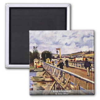 Bridge At Argenteuil,  By Sisley Alfred Magnet